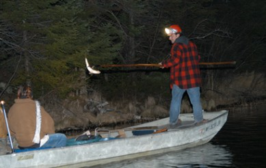 Watch Traditional Ojibwe Winter Spearing